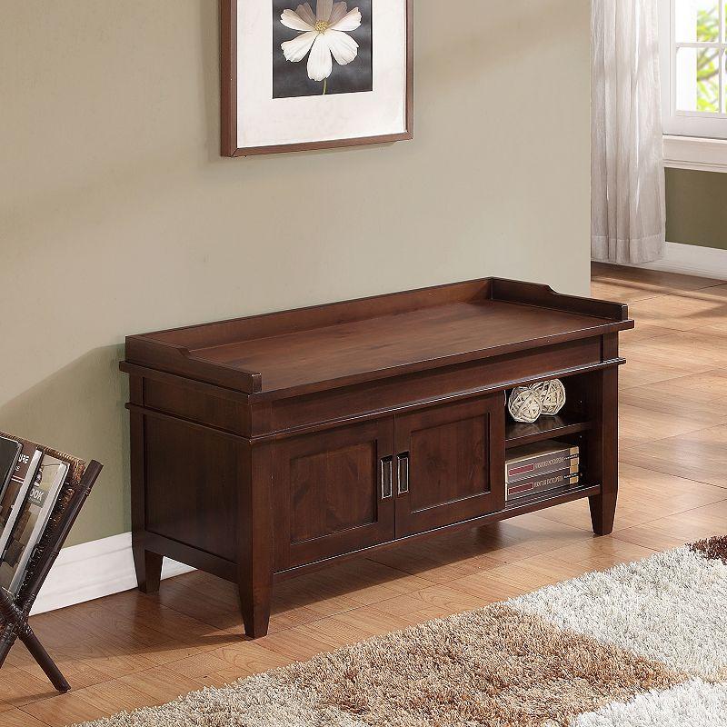 Simpli Home Carlton Storage Bench