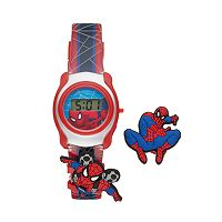Marvel Spider-Man Boy's Interchangeable Digital Watch Set