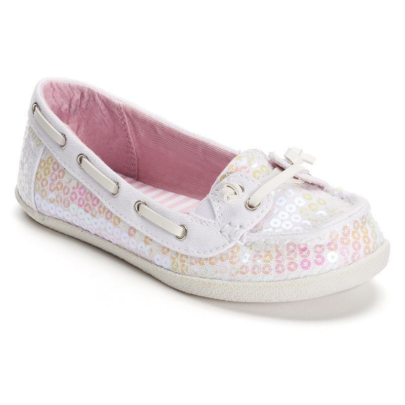 SONOMA life + style Girls' Sequin Boat Shoes