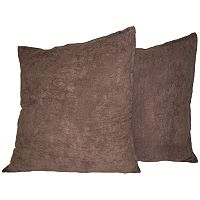 Hudson Street 2 pkFaux-Suede Floor Pillows - 22'' x 22''