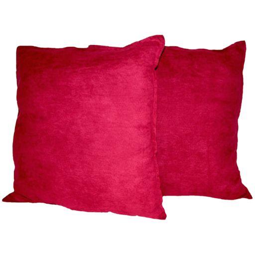 Hudson Street 2-pk. Faux-Suede Floor Pillows - 22'' x 22''
