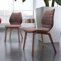 Zuo Modern 2 pc Aalborg Chair Set