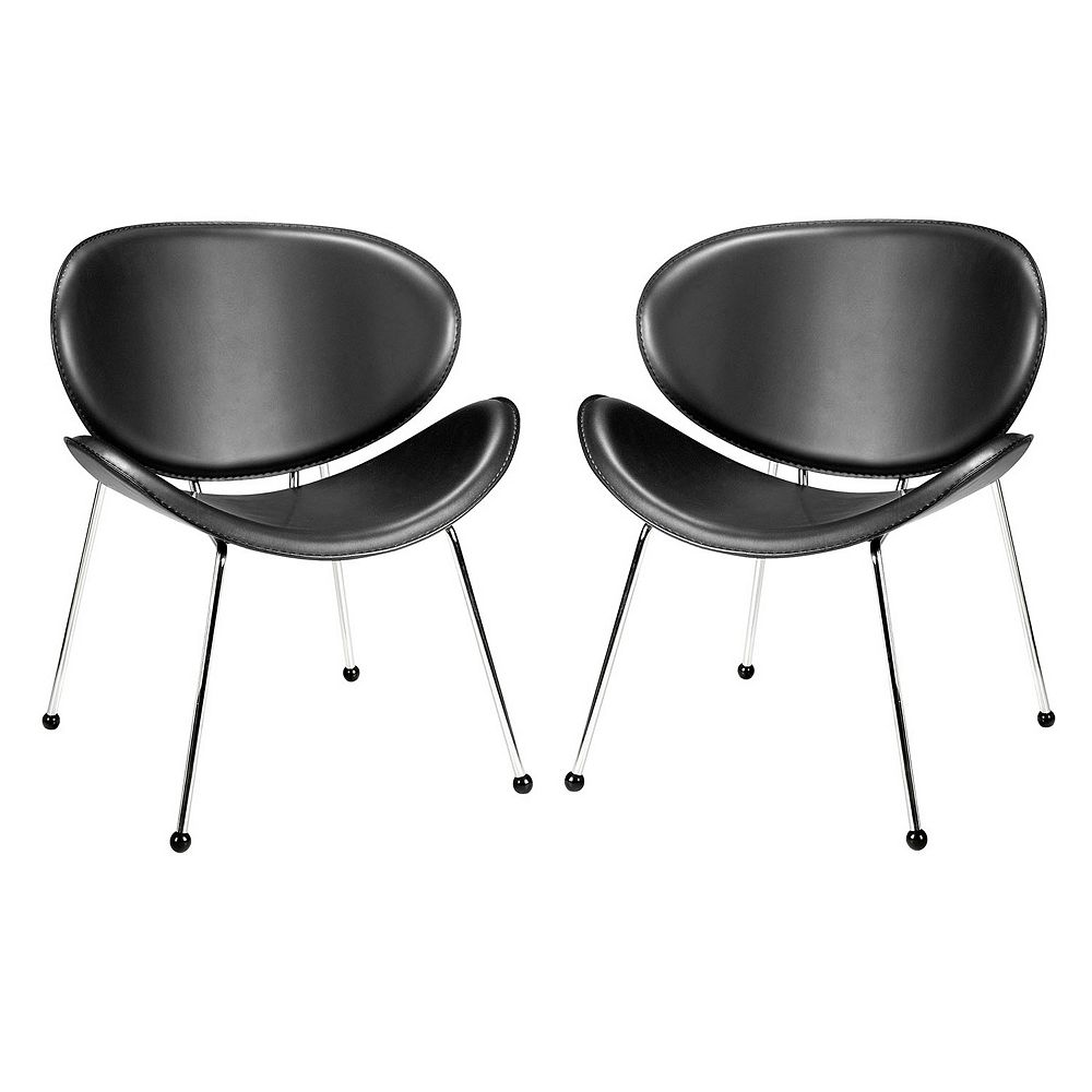 Zuo Modern 2-piece Match Faux-Leather Lounge Chair Set