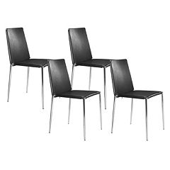 Zuo Modern 4 pc Alex Dining Chair Set