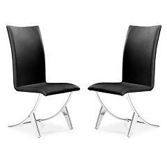 Zuo Modern 2 pc Delfin Dining Chair Set