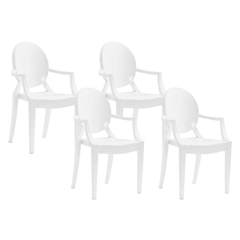 Zuo Modern 4-piece Anime Dining Chair Set