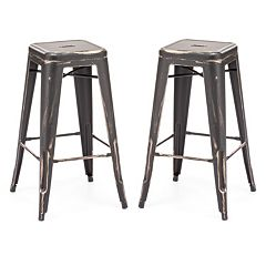 Zuo Modern 2 pc Marius Bar Stool Set