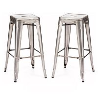 Zuo Modern 2-piece Marius Bar Stool Set