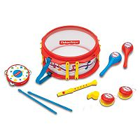 Fisher-Price Red Musical Band Drum Set
