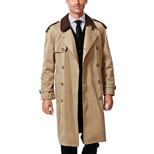 Haggar® Classic-Fit Double-Breasted Trench Coat