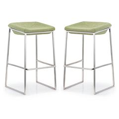 Zuo Modern 2 pc Lids Bar Stool Set