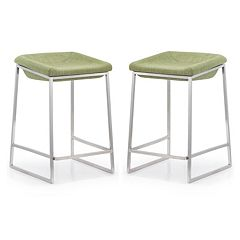 Zuo Modern 2 pc Lids Counter Stool Set