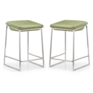 Zuo Modern 2-piece Lids Counter Stool Set