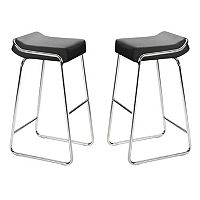 Zuo Modern 2 pc Wedge Bar Stool Set