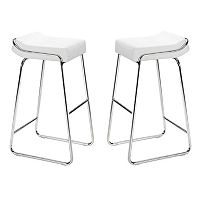 Zuo Modern 2-piece Wedge Bar Stool Set