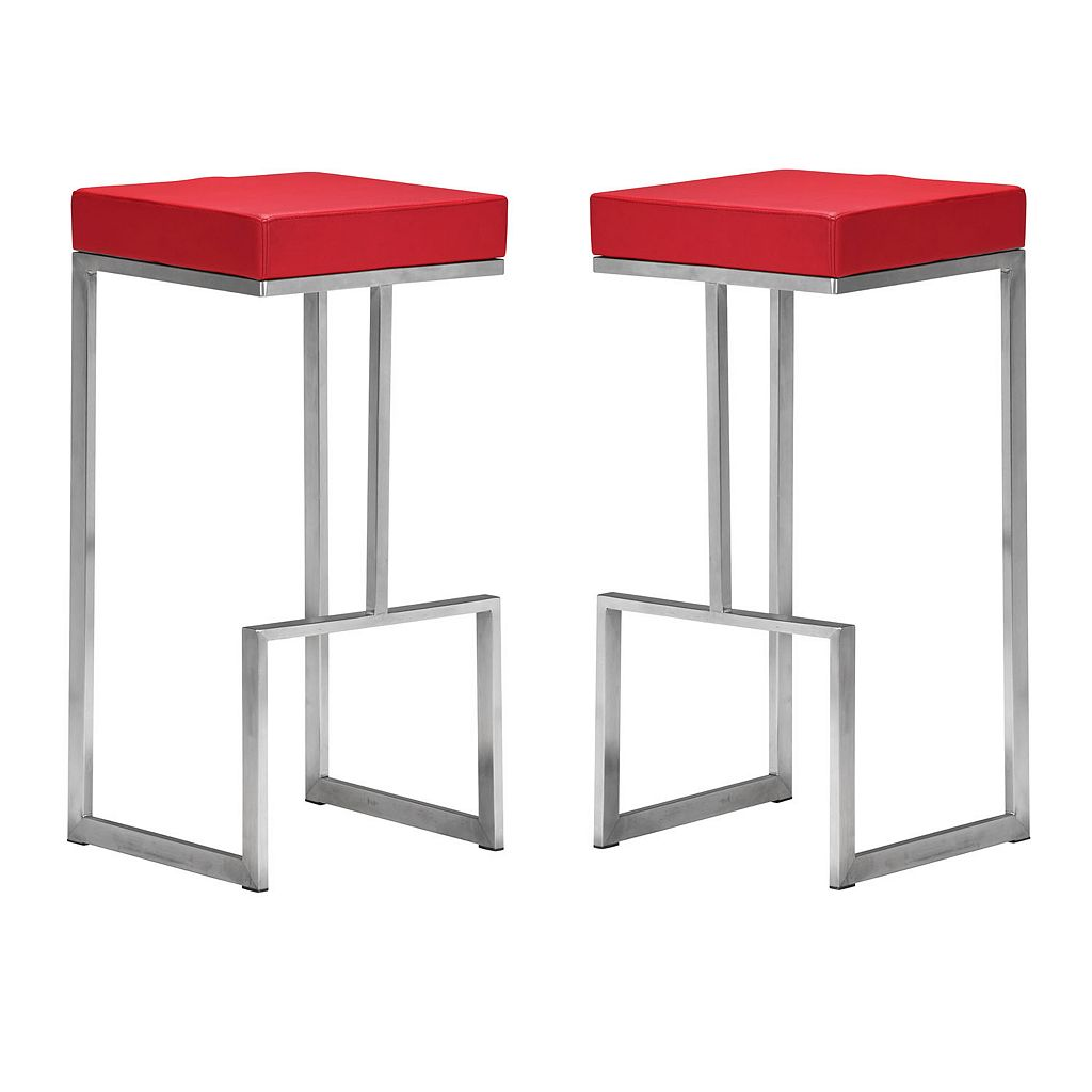 Zuo Modern 2-piece Darwen Bar Stool Set