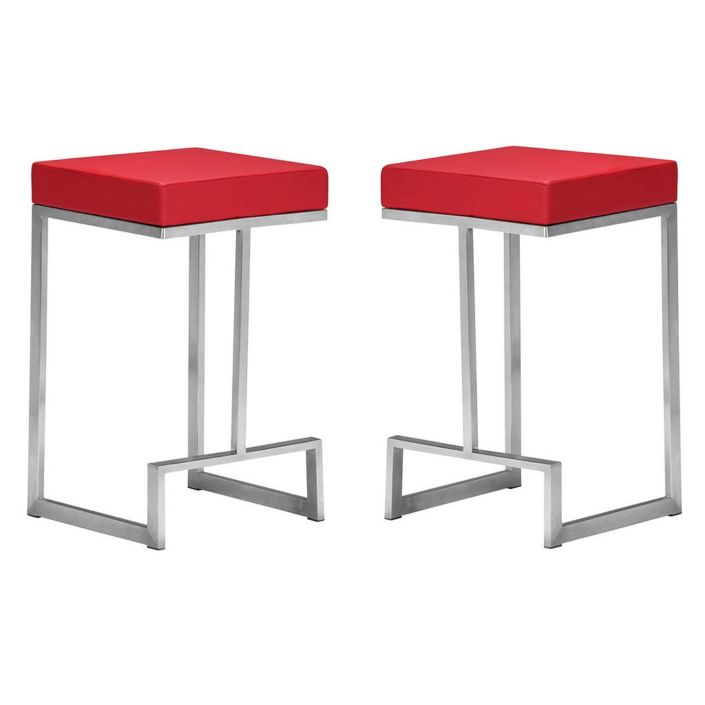 Zuo Modern 2-piece Darwen Counter Stool Set