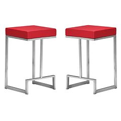 Zuo Modern 2 pc Darwen Counter Stool Set