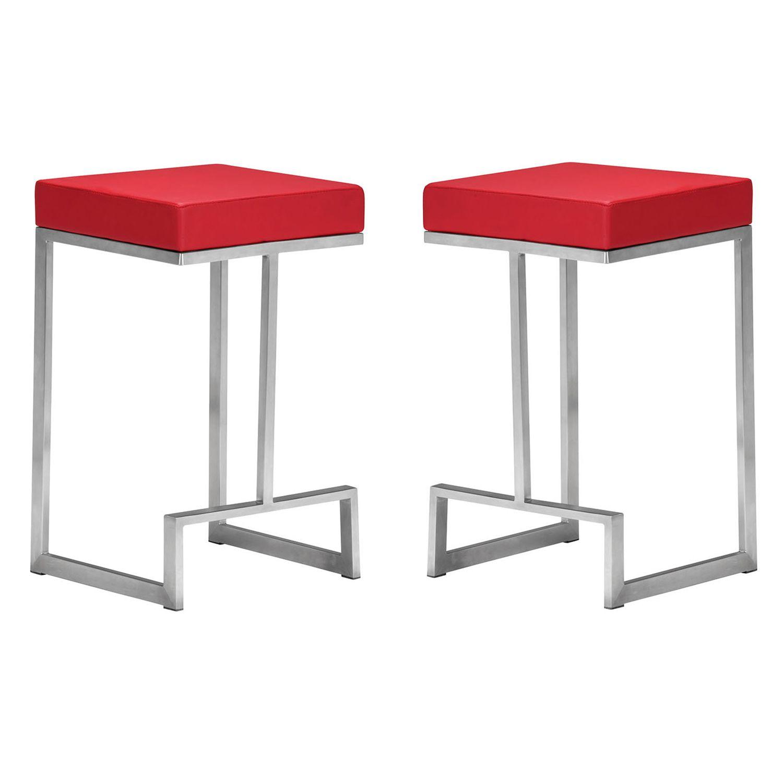 Zuo Modern 2 Piece Darwen Counter Stool Set