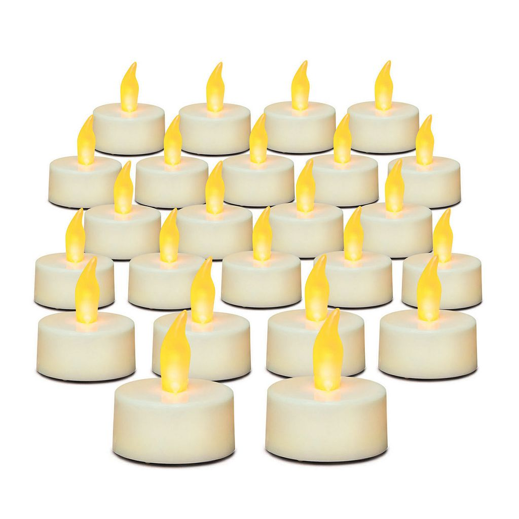 Inglow 24-piece Flameless LED Tealight Set