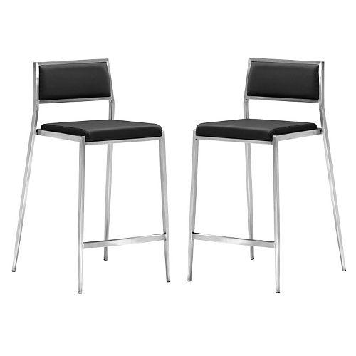 Zuo Modern 2-piece Dolemite Counter Chair Set