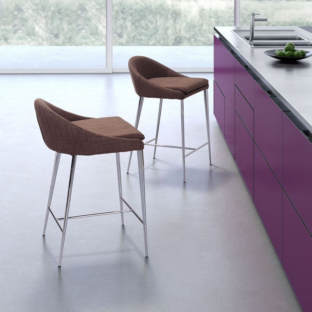 Zuo Modern 2-piece Reykjavik Counter Chair Set