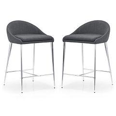 Zuo Modern 2 pc Reykjavik Counter Chair Set