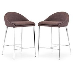 Zuo Modern 2 pc Reykjavik Counter Chair Set