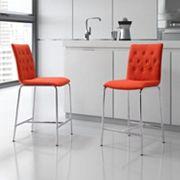 Zuo Modern 2 pc Uppsala Counter Chair Set