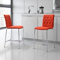 Zuo Modern 2-piece Uppsala Counter Chair Set