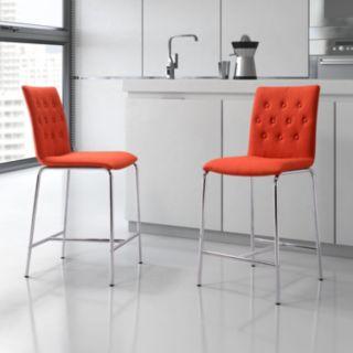 Zuo Modern 2-piece Uppsala Counter Chair Set