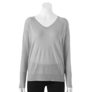 Women's Apt. 9® Open-Work Raglan Sweater