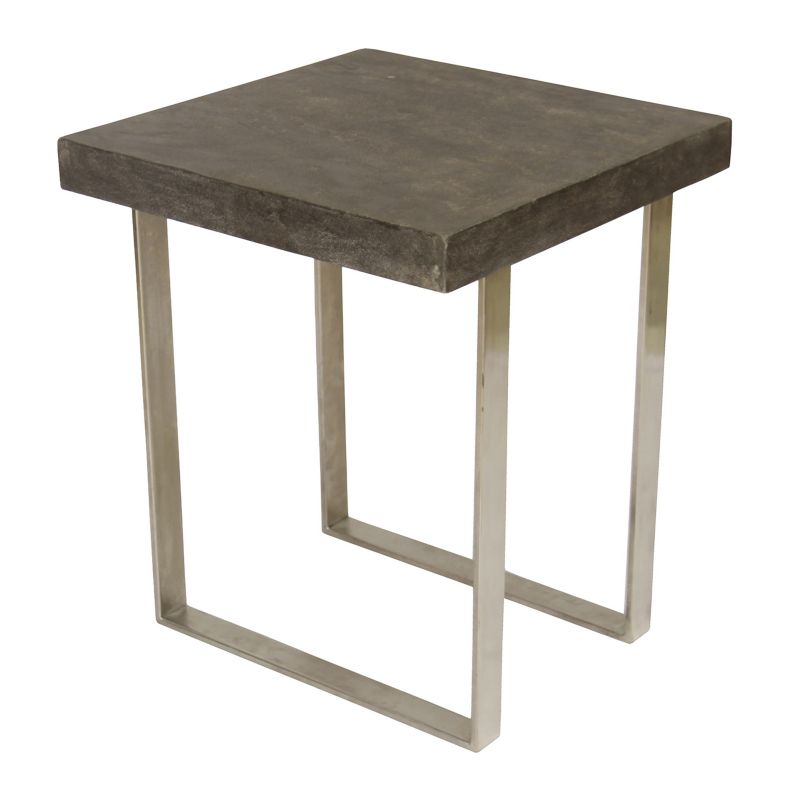 Treasure Trove Accents Contemporary End Table, Grey