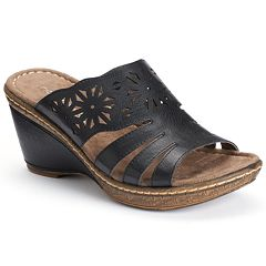 NaturalSoul by naturalizer History Women's Slip-On Wedge Mule Sandals