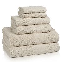 Kassatex Turkish Hammam Textured 6-piece Towel Set