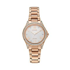 Drive from Citizen Eco-Drive Women's POV Rose Gold Tone Stainless Steel Watch - EM0233-51A
