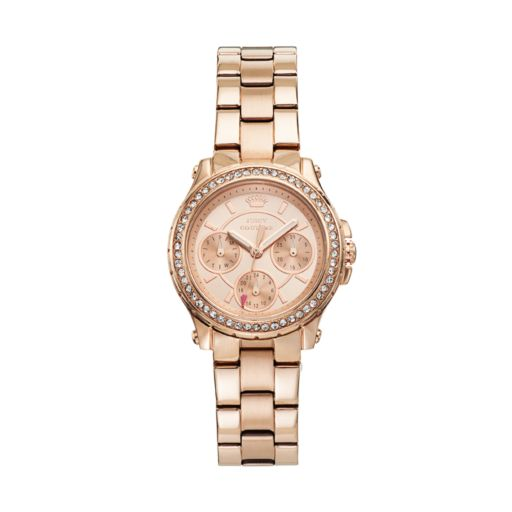 Juicy Couture Pedigree Rose Gold Tone Stainless Steel Women's Watch - 1901106