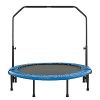 Upper Bounce 48 in Mini Folding Trampoline with Adjustable Handrail