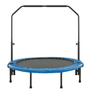 Upper Bounce 48-in. Mini Folding Trampoline with Adjustable Handrail