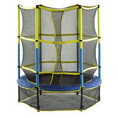 Upper Bounce 55 in Kid-Friendly Trampoline with Enclosure