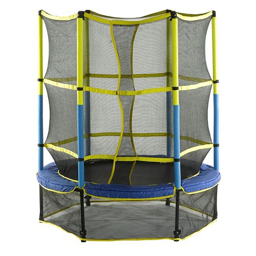 Upper Bounce 55-in. Kid-Friendly Trampoline with Enclosure