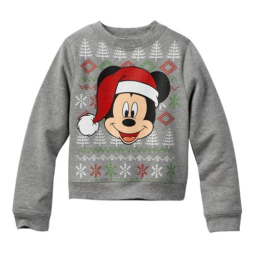 disney mickey mouse christmas sweatshirt toddler boy