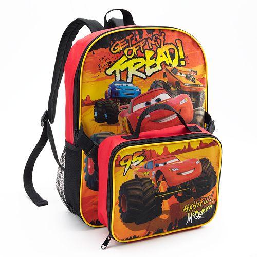 07d67d7fbb9d Disney Cars Lightning McQueen Backpack   Lunch Bag Set - Kids