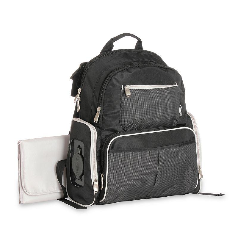 Graco Gotham Backpack Diaper Bag - Black/Gray
