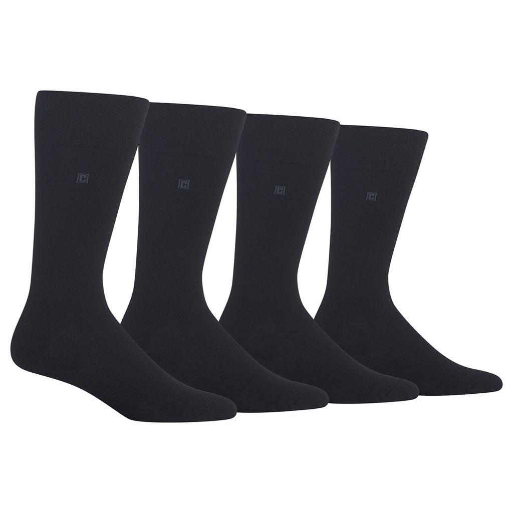 Men's Chaps 4-pk. Solid Dress Socks