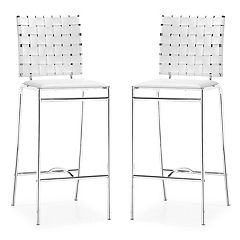 Zuo Modern Criss Cross 2 pc Counter Chair Set