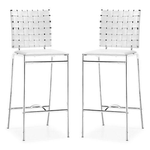 Zuo Modern Criss Cross 2-piece Counter Chair Set