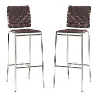Zuo Modern Criss Cross 2-piece Bar Chair Set