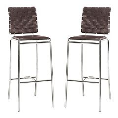 Zuo Modern Criss Cross 2 pc Bar Chair Set