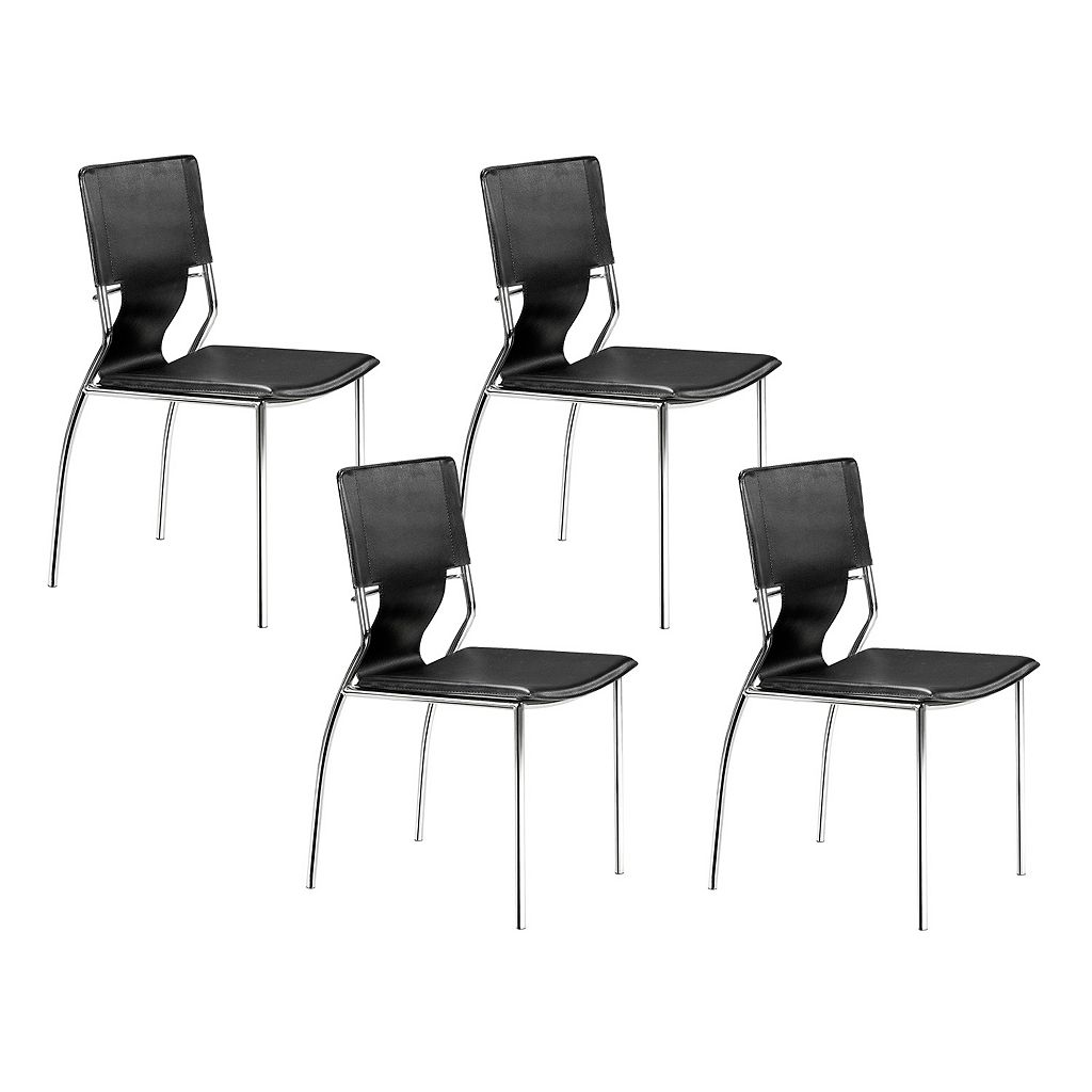 Zuo Modern 4-piece Trafico Dining Chair Set